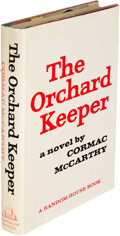 Books:Literature 1900-up, Cormac McCarthy. The Orchard Keeper. New York: [1965]. Firstedition.. ...