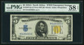 Small Size:World War II Emergency Notes, Late Finished Plate 307 Fr. 2307 $5 1934A North Africa Silver Certificate. PMG Choice About Unc 58 EPQ.. ...