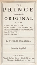 Books:Philosophy, [Niccolo Machiavelli]. The Works of the Famous NicholasMachiavel... London: 1680. Second edition....