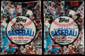 Baseball Cards:Unopened Packs/Display Boxes, 1981 Topps Baseball Wax Box Pair (2) - Each With 36 Unopened Packs....