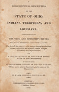 Books:Americana & American History, [Jervis Cutler]. A Topographical Description of the State ofOhio, Indiana Territory, and Louisiana. Boston: 181...