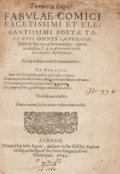 Books:Literature Pre-1900, [Publius Terentius Afer]. Terence in English. London: 1641. Later edition.. ...