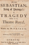 Books:Literature Pre-1900, John Dryden. [Plays and Poems]. London: [1682-1691]. Sammelband,various editions....