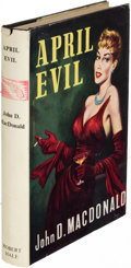 Books:Mystery & Detective Fiction, John D. MacDonald. April Evil. London: [1957]. First English(and first hardcover) edition....