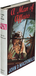 Books:Mystery & Detective Fiction, John D. MacDonald. A Man of Affairs. London: [1959]. First English (and first hardcover) edition....