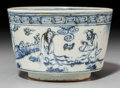 Ceramics & Porcelain, A Chinese Blue and White Porcelain Bowl, late Ming Dynasty. Marks: Four-character Tianqi mark in blue underglaze and of the ...
