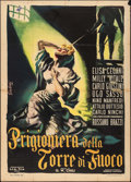 """Movie Posters:Foreign, Prisoner in the Tower of Fire (L.I.A., 1953). Italian 2 - Fogli (39.25"""" X 55""""). Foreign.. ..."""