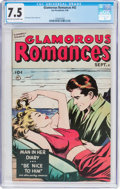 Golden Age (1938-1955):Romance, Glamorous Romances #42 (Ace, 1949) CGC VF- 7.5 Light tan tooff-white pages....