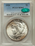 Peace Dollars: , 1928 $1 MS64 PCGS. CAC. PCGS Population: (2036/339). NGC Census:(992/111). CDN: $825 Whsle. Bid for problem-free NGC/PCGS ...