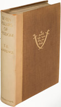 Books:Travels & Voyages, T. E. Lawrence. Seven Pillars of Wisdom. London: [1935].First edition....