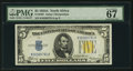 Small Size:World War II Emergency Notes, Fr. 2307 $5 1934A North Africa Silver Certificate. PMG Superb Gem Uncirculated 67 EPQ.. ...