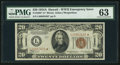 Small Size:World War II Emergency Notes, Fr. 2305* $20 1934A Hawaii Federal Reserve Note. PMG ChoiceUncirculated 63.. ...