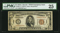 Small Size:World War II Emergency Notes, Fr. 2302* $5 1934A Hawaii Federal Reserve Note. PMG Very Fine 25.....