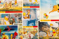 Animation Art:Poster, Winnie the Pooh and the Blustery Day Lobby Card Set of 8(Walt Disney, 1968).... (Total: 8 )