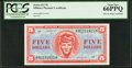 Military Payment Certificates:Series 611, Series 611 $5 PCGS Gem New 66PPQ.. ...