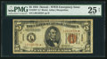 Small Size:World War II Emergency Notes, Fr. 2301* $5 1934 Hawaii Federal Reserve Note. PMG Very Fine 25 Net.. ...