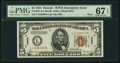 Small Size:World War II Emergency Notes, Fr. 2301 $5 1934 Hawaii Federal Reserve Note. PMG Superb Gem Unc 67EPQ.. ...