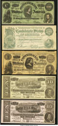 Obsoletes By State:Mixed States, Selection of Confederate Facsimile Advertising Notes from Miscellaneous Issuers ca. 1880s-1920s. Ten Examples. ... (Total: 10 notes)