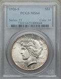 Peace Dollars: , 1926-S $1 MS64 PCGS. PCGS Population: (2343/840). NGC Census:(1847/401). CDN: $225 Whsle. Bid for problem-free NGC/PCGS MS...