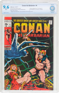 Conan the Barbarian #4 (Marvel, 1971) CBCS NM+ 9.6 White pages