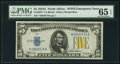 Small Size:World War II Emergency Notes, Fr. 2307* $5 1934A North Africa Silver Certificate. PMG GemUncirculated 65 EPQ.. ...