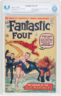 Silver Age (1956-1969):Superhero, Fantastic Four #4 (Marvel, 1962) CBCS VF+ 8.5 Off-white pages....
