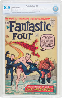 Fantastic Four #4 (Marvel, 1962) CBCS VF+ 8.5 Off-white pages