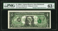 Error Notes:Major Errors, Complete Multiple Impression (4th Printing) of Back on Face ErrorFr. 1915-E $1 1988A Federal Reserve Note. PMG Choice Uncircu...