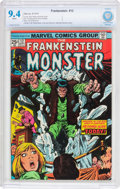 Bronze Age (1970-1979):Horror, Frankenstein #12 (Marvel, 1974) CBCS NM 9.4 White pages....