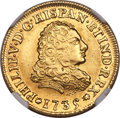 Mexico, Mexico: Philip V gold 2 Escudos 1735 Mo-MF AU Details (ExcessiveSurface Hairlines) NGC,...
