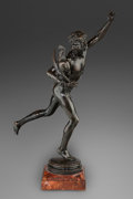 Fine Art - Sculpture, European:Antique (Pre 1900), Jean Alexandre Joseph Falguière (French, 1831-1900). LeVainqueur a la Course de Coqs. Bronze with brown patina. 38inch...