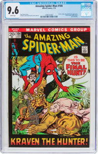 The Amazing Spider-Man #104 (Marvel, 1972) CGC NM+ 9.6 White pages