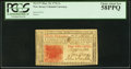 Colonial Notes:New Jersey, New Jersey March 25, 1776 3s PCGS Choice About New 58PPQ.. ...