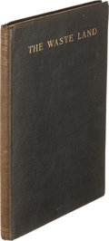 Books:Literature 1900-up, T. S. Eliot. The Waste Land. New York: Boni and Liveright,1922. First edition, second state, in stiff boards and wi...