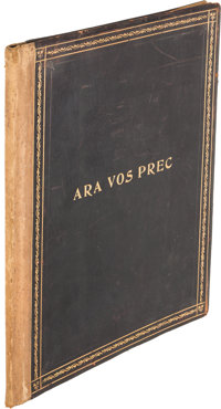 T. S. Eliot. Ara Vos Prec. [London]: The Ovid Press, [1919]. First edition, one of four pres