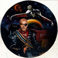 """Original Comic Art:Paintings, Keith Birdsong Star Trek: Power of Command """"General Chang and the Klingon Bird of Prey"""" Collector Plate Painting O..."""