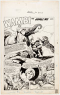Original Comic Art:Splash Pages, Henry C. Kiefer Wambi, Jungle Boy #9 Splash Page OriginalArt (Fiction House, 1950)....