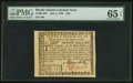 Colonial Notes:Rhode Island, Rhode Island July 2, 1780 $20 PMG Gem Uncirculated 65 EPQ.. ...