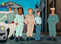 Animation Art:Production Cel, The Real Ghostbusters Production Cel and Master BackgroundSetup (DIC, 1986). ...