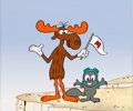 Animation Art:Presentation Cel, Bullwinkle J. Moose and Rocket J. Squirrel (aka Rocky) Presentation Cel (c. 1980-2000s)....
