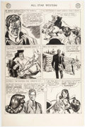 Original Comic Art:Panel Pages, Gil Kane All Star Western #107 Story Page 8 Johnny Thunder Original Art (DC, 1951)....