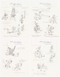Original Comic Art:Sketches, Fontaine Fox Toonerville Folks Character Drawings and Illustrated Letter Original Art dated 3-5-62 Group of 7 (196... (Total: 7 Original Art)