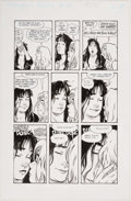 Original Comic Art:Panel Pages, Terry Moore Strangers in Paradise V2#10 Story Page 18Francine and Katchoo Original Art (Abstract Studio, 1996)....