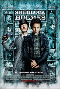 "Sherlock Holmes (Warner Brothers, 2009). One Sheet (27"" X 40"") DS Advance. Mystery"