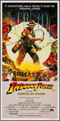 "Movie Posters:Adventure, Indiana Jones and the Temple of Doom (Paramount, 1984). AustralianDaybill (13"" X 30"") Art Style. Adventure.. ..."