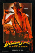 "Movie Posters:Adventure, Indiana Jones and the Temple of Doom (Paramount, 1984). One Sheet(27"" X 41"") Advance Black Background. Adventure.. ..."