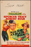 "Movie Posters:Thriller, Bad Day at Black Rock (MGM, 1955). Trimmed Window Card (14"" X 21.5""). Thriller.. ..."