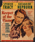 """Movie Posters:Drama, Keeper of the Flame (MGM, 1942). Trimmed Window Card (14"""" X 16.75""""). Drama.. ..."""
