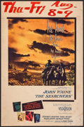 "Movie Posters:Western, The Searchers (Warner Brothers, 1956). Trimmed Window Card (14"" X21.5""). Western.. ..."