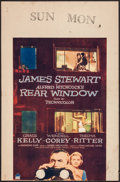 "Movie Posters:Hitchcock, Rear Window (Paramount, 1954). Trimmed Window Card (14"" X 21"").Hitchcock.. ..."
